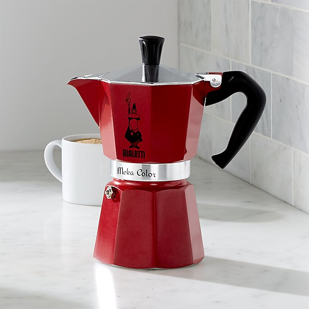 Price Match App >> Bialetti ® Red Moka 6-Cup Espresso Maker | Crate and Barrel