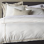Bianca White/Natural Full-Queen Duvet Cover