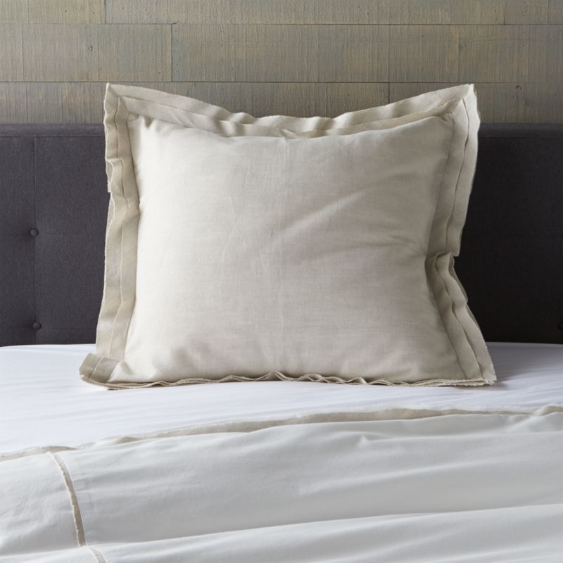Bianca White Natural Euro Sham Reviews Crate And Barrel