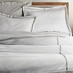 Bianca White/Grey Full/Queen Duvet Cover