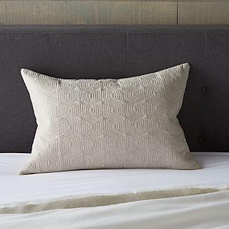 "Bianca Natural 24""x16"" Lumbar Pillow with Down Alternative Insert"