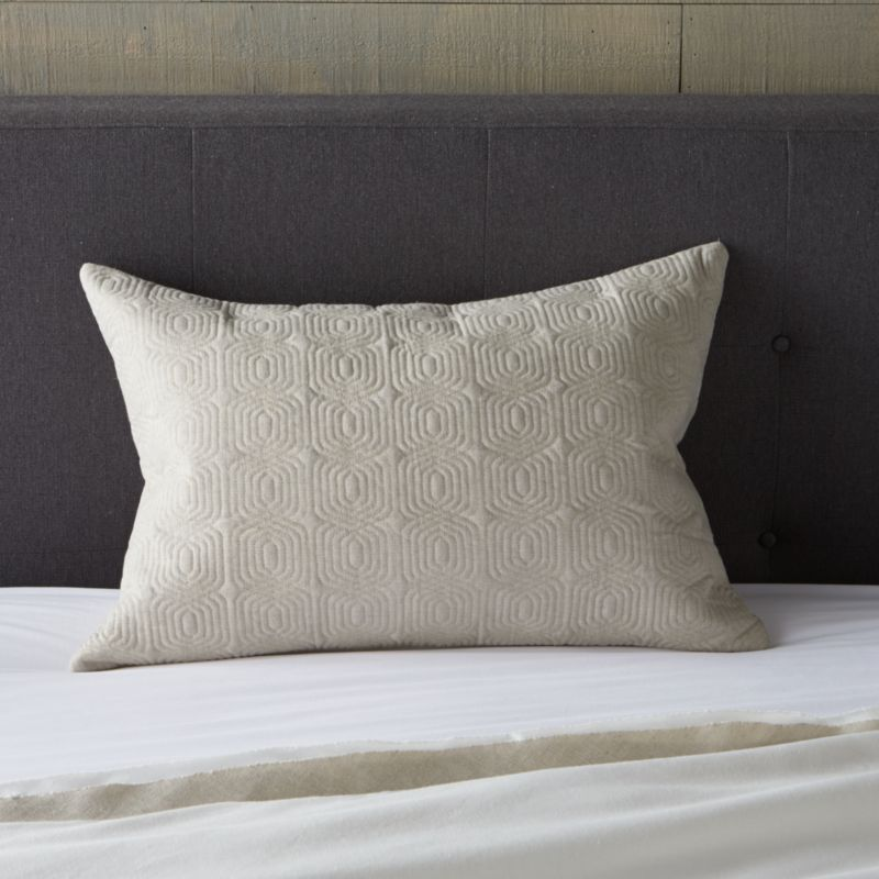 Quilted lumbar pillow cover adds a solid and textured counterpoint to Bianca's mix of neutral naturals. Complete pillow with down alternative or feather-down insert also available.<br /><br /><NEWTAG/><ul><li>Cover is 52% linen and 48% cotton with cotton filling</li><li>Side zipper closure</li><li>Machine wash cold, tumble dry low</li><li>Professional Dry Cleaning recommended for best results</li><li>Made in India</li></ul>