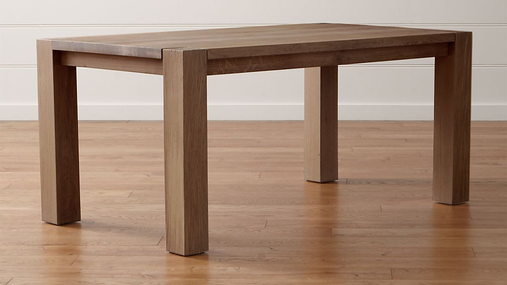 Big Sur Smoke 65u0026quot; Dining Table : Crate and Barrel