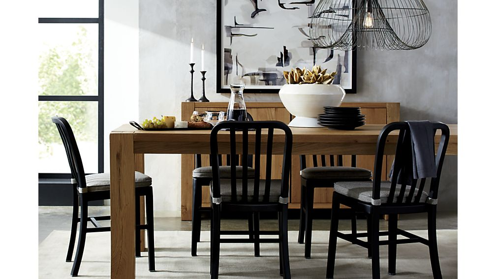 Big Sur Natural Dining Tables Crate And Barrel