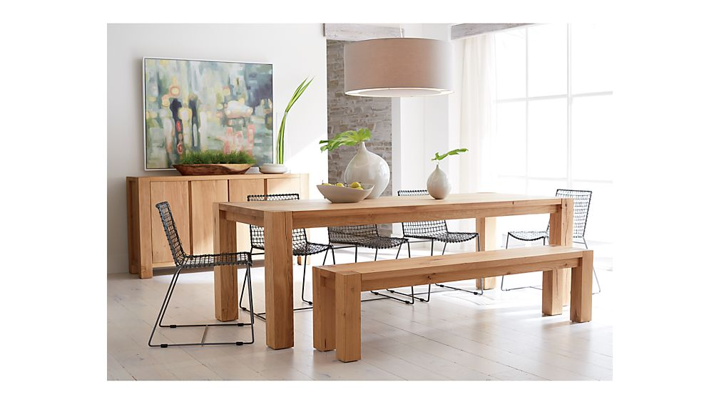 Big Sur Natural 65  Dining Table. Big Sur Natural 65  Dining Table   Crate and Barrel