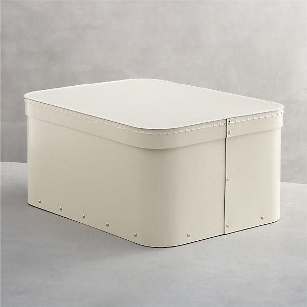 Bigso ® Ivory Large Rectangular Storage Box