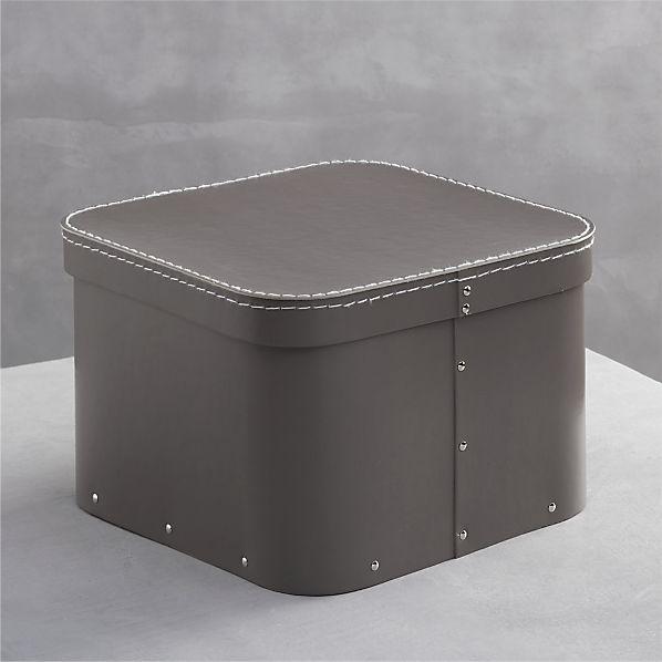 Bigso ® Grey Small Square Storage Box