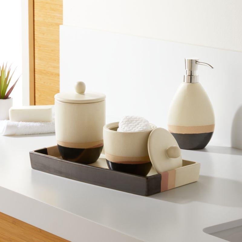 charming spa bathroom accessories | Bijou Bath Accessories | Crate and Barrel
