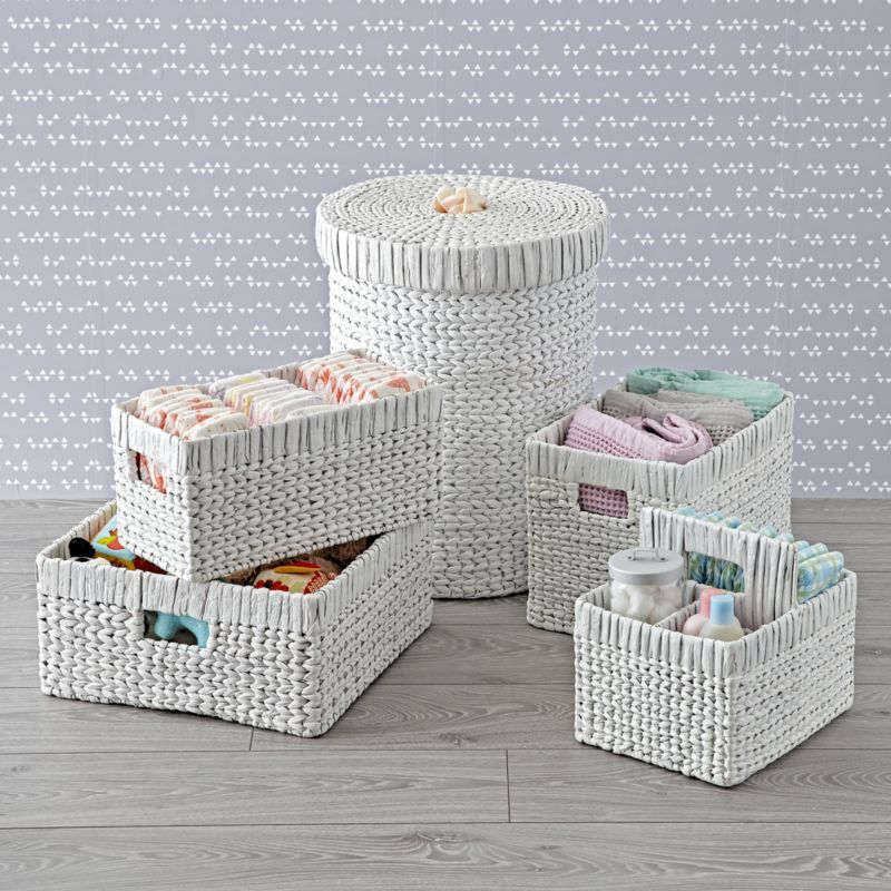 White Wicker Nursery Collection Crate And Barrel