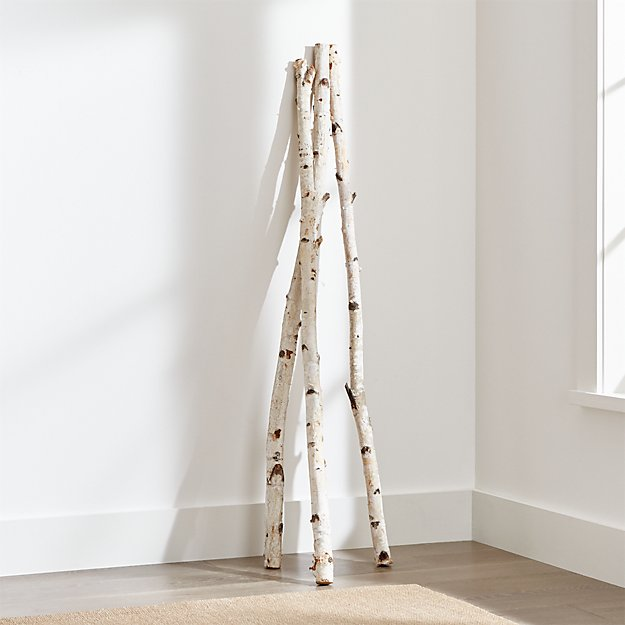 Tall Birch Branches Set Of 3 Reviews Crate And Barrel