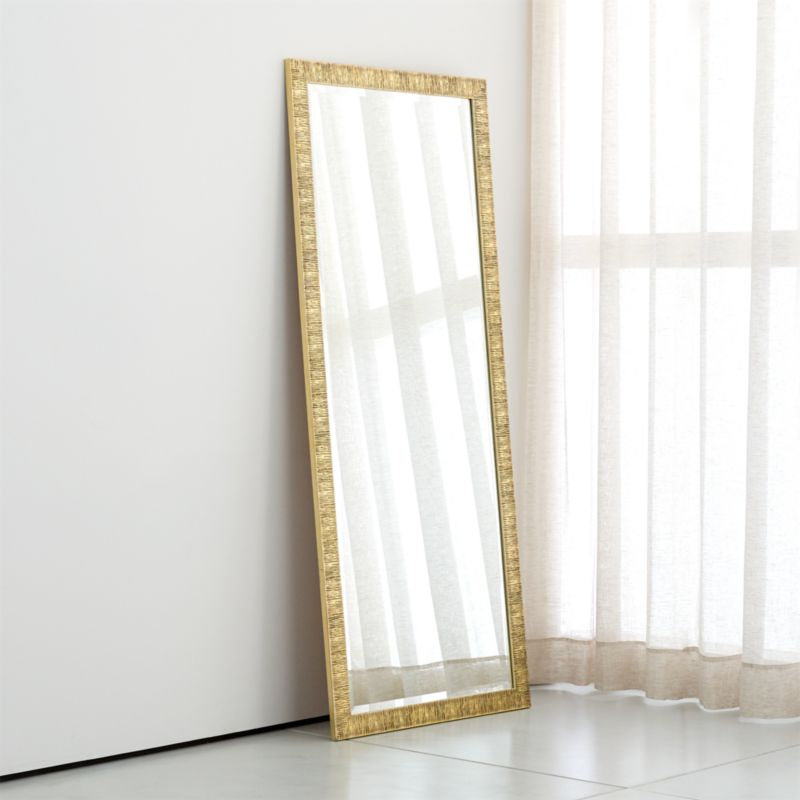 Birch Champagne Gold Floor Mirror
