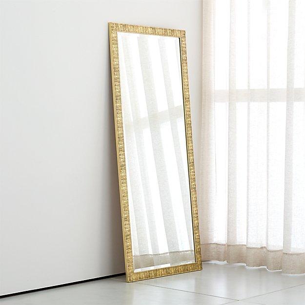 Birch Champagne Gold Floor Mirror