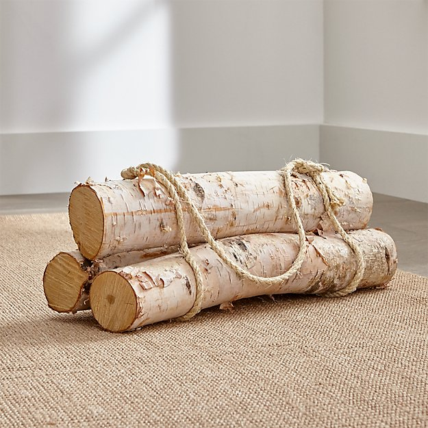 Birch Logs Set Of 3 Reviews Crate And Barrel