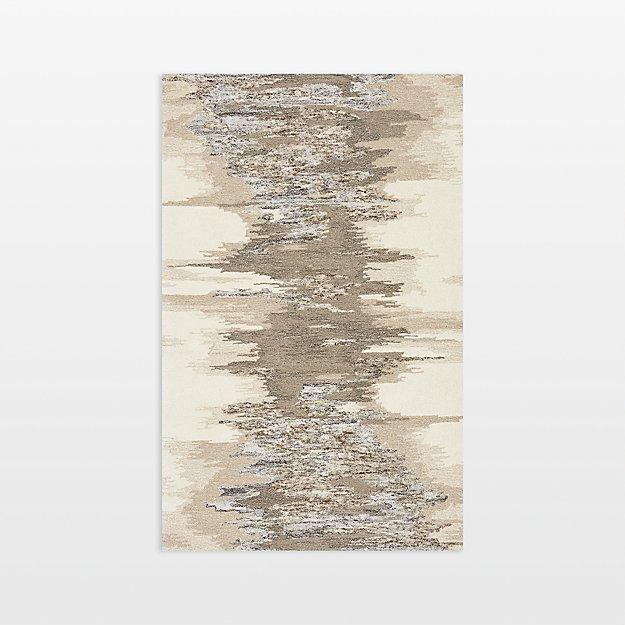 Birch Wool-Blend Abstract Rug 5'x8'