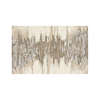 Birch Neutral Wool-Blend Abstract Rug 5'x8'
