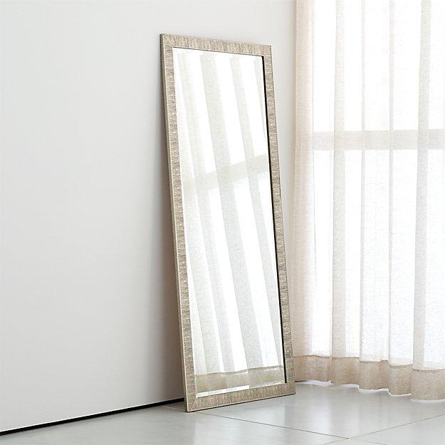 Birch Silver Floor Mirror