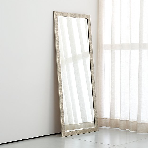 Birch Silver Floor Mirror + Reviews | Crate and Barrel