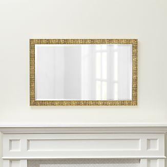 Champagne Gold Birch Rectangular Wall Mirror