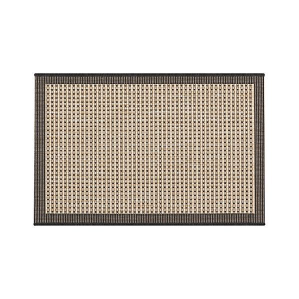 Biscayne Black 2'x3' Indoor-Outdoor Rug