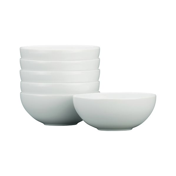 """Set of 6 Bistro 6"""" Small Bowls"""