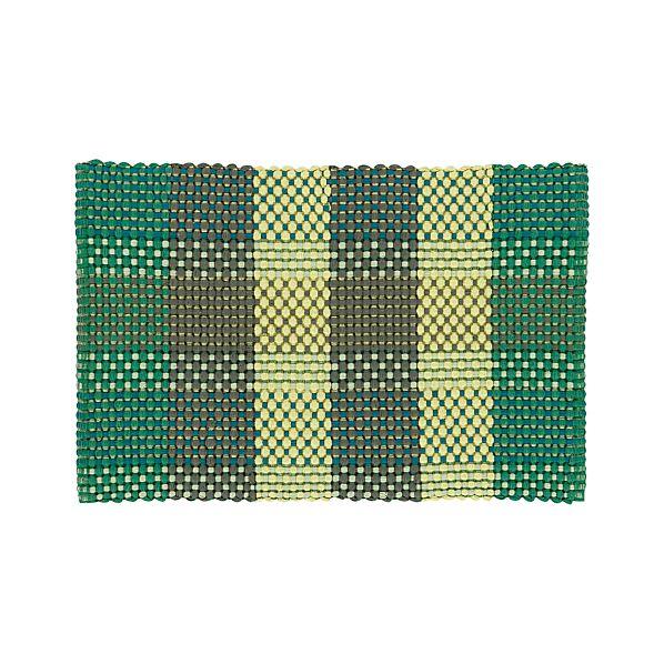 Bitsie Green 2'x3' Rug