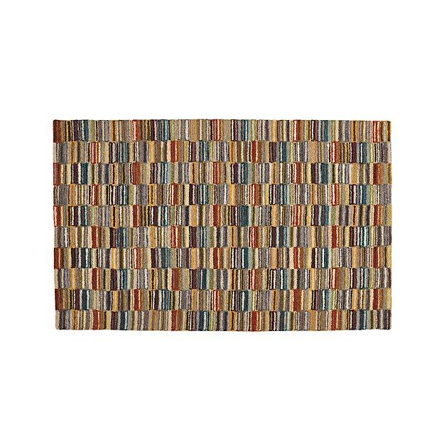 Bix Striped Wool 5'x8' Rug