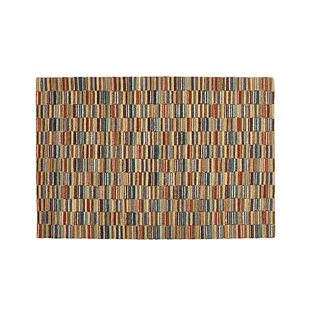 Bix Striped Wool Rug 6'x9'