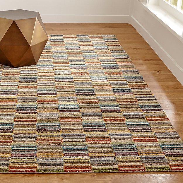Bix Striped Wool Rug - Image 1 of 5