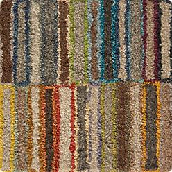 Bix Striped Wool 12 Sq Rug Swatch