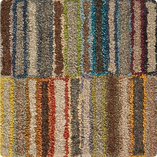 "Bix Striped Wool 12"" sq. Rug Swatch"
