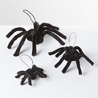 Black Buri Spider Decorations