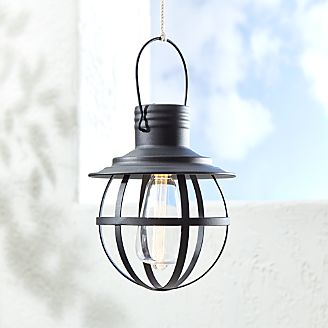 An Outdoor Light Outdoor lighting string lights and lanterns crate and barrel black caged geometric lantern workwithnaturefo