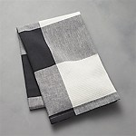 Black Check Dish Towel