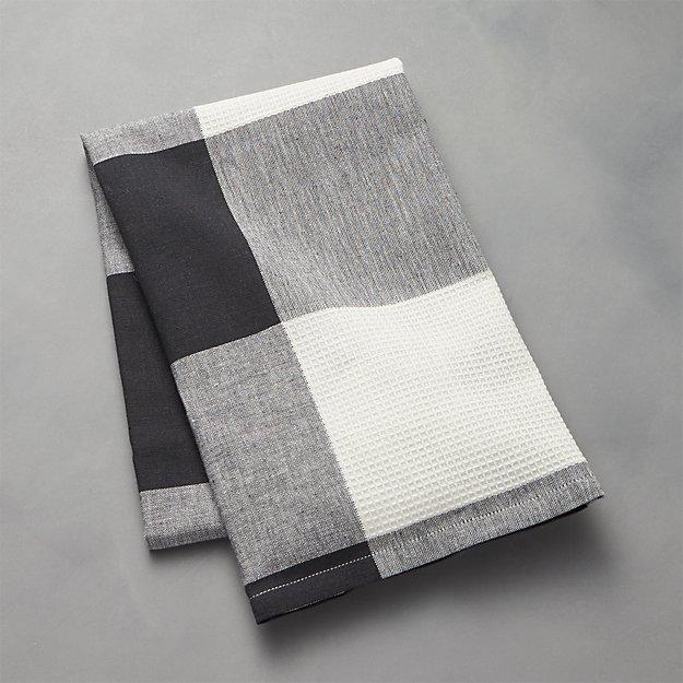 Black Check Dish Towel