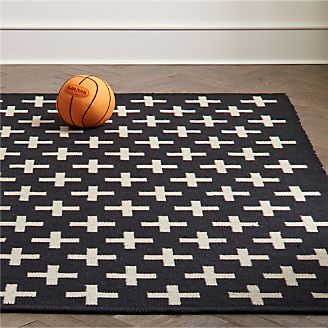 Positive Black Indoor Outdoor Rug Kids