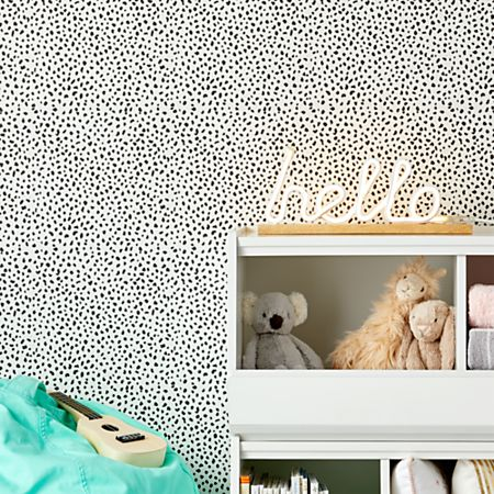 Chasing Paper White and Black Speckle Removable Wallpaper + Reviews | Crate  and Barrel