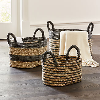 Black Nesting Baskets, Set of 3