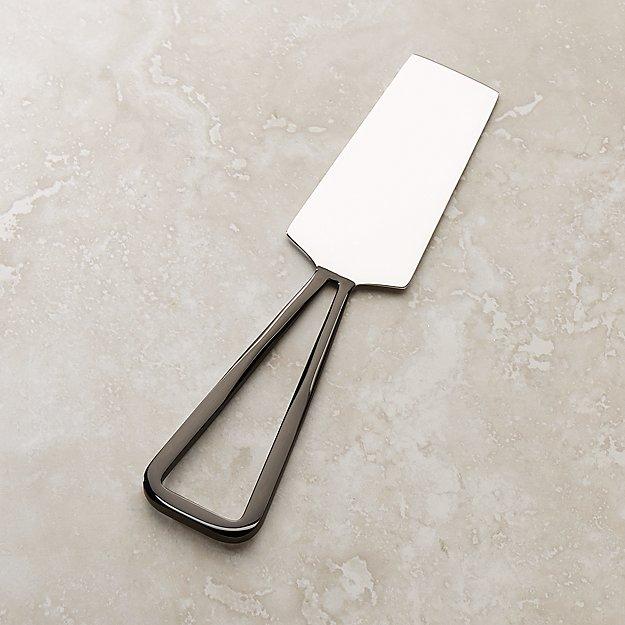 Black Nickel Hard Cheese Knife - Image 1 of 3