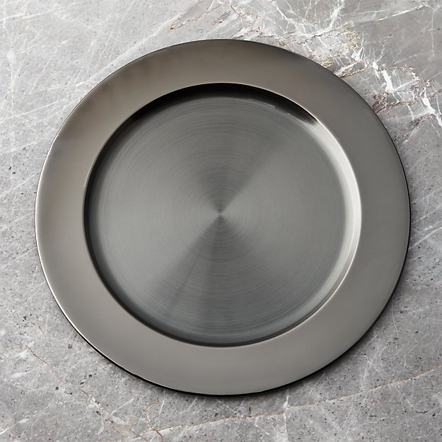 Black Nickel-Plated Charger - Image 1 of 2
