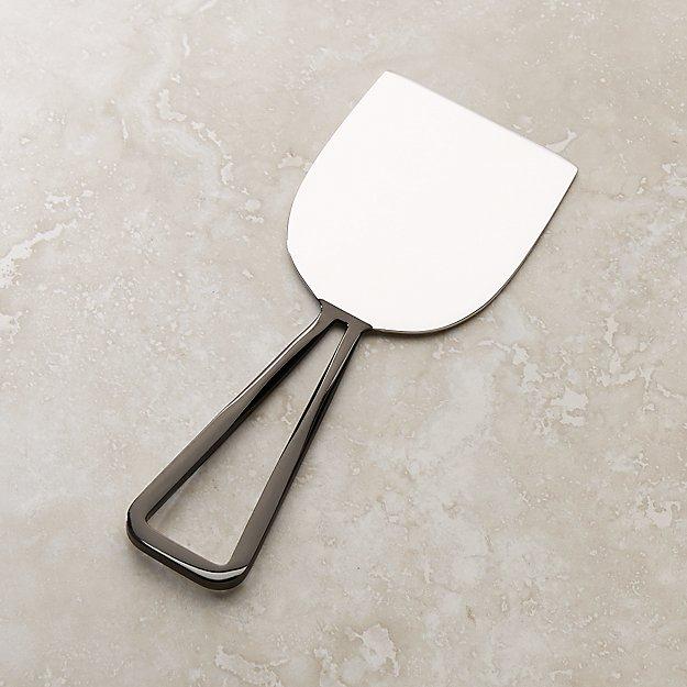 Black Nickel Wedge Cheese Knife - Image 1 of 3