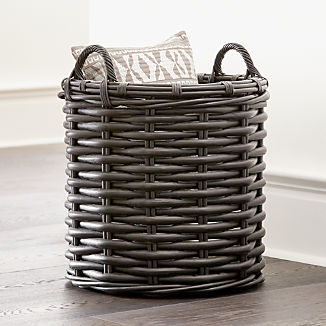 3b5270502e24 Baskets: Wicker, Wire, Woven and Rattan | Crate and Barrel