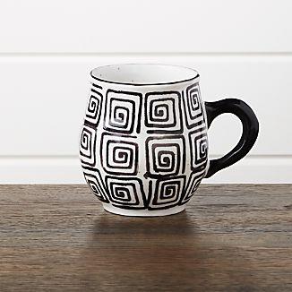 Black Swirl Mug