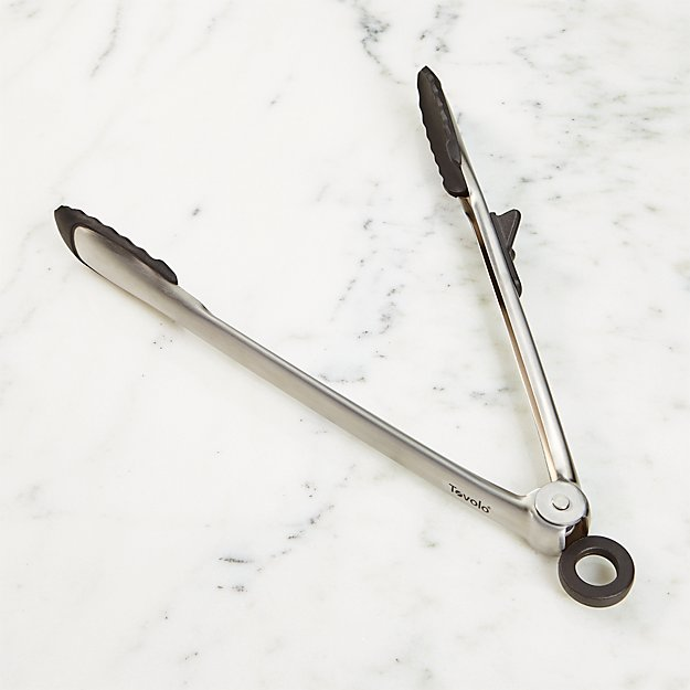 Tovolo ® Black Tip Top Silicone Tongs - Image 1 of 5