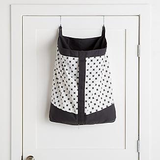 Dark Grey Hanging Laundry Hamper