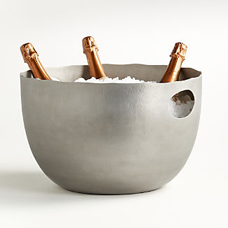 Blake Brushed Silver Beverage Tub