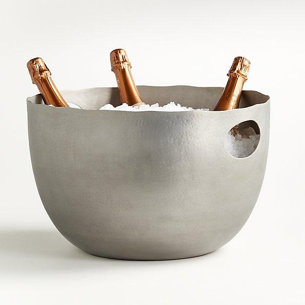 Blake Brushed Silver Beverage Tub - Image 1 of 2