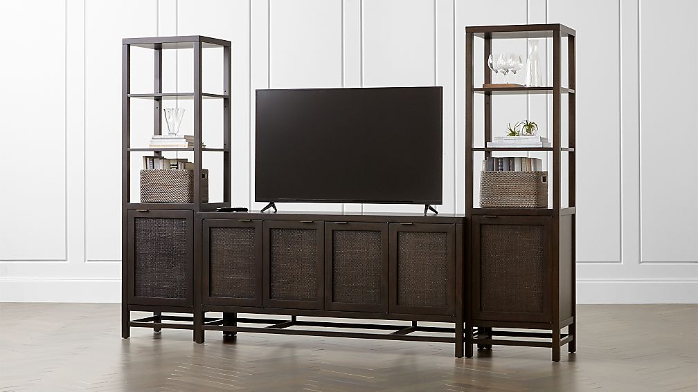 """Blake Carbon 68"""" Media Console with 2 Tall Cabinets - Image 1 of 7"""