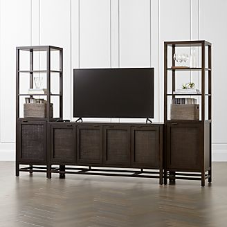 gallery cabinet mahogany plus glass media design contemporary product