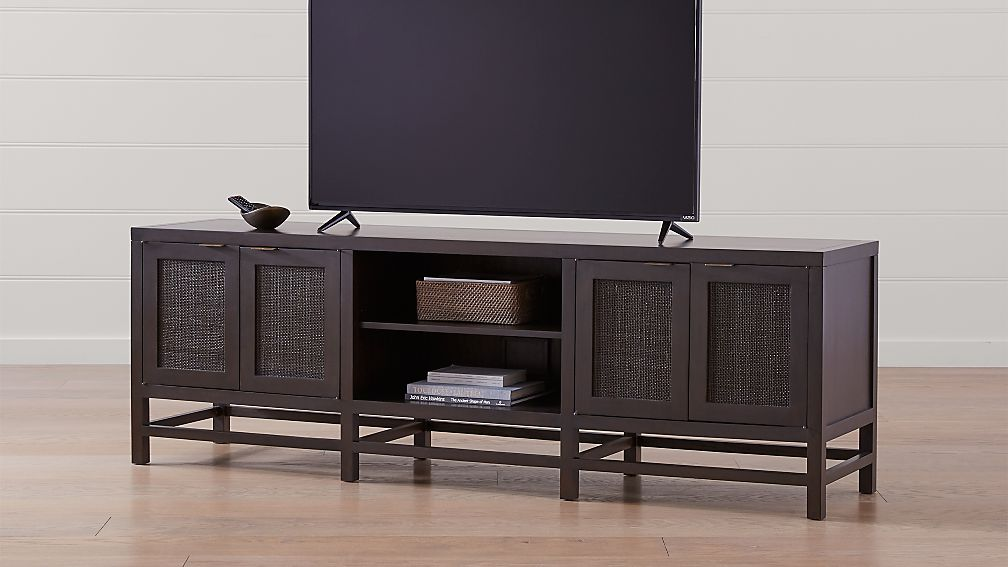 "Blake 85"" Carbon Mahogany Media Console - Image 1 of 7"