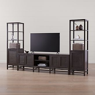 Blake Carbon 85 Media Console With 2 Tall Cabinets